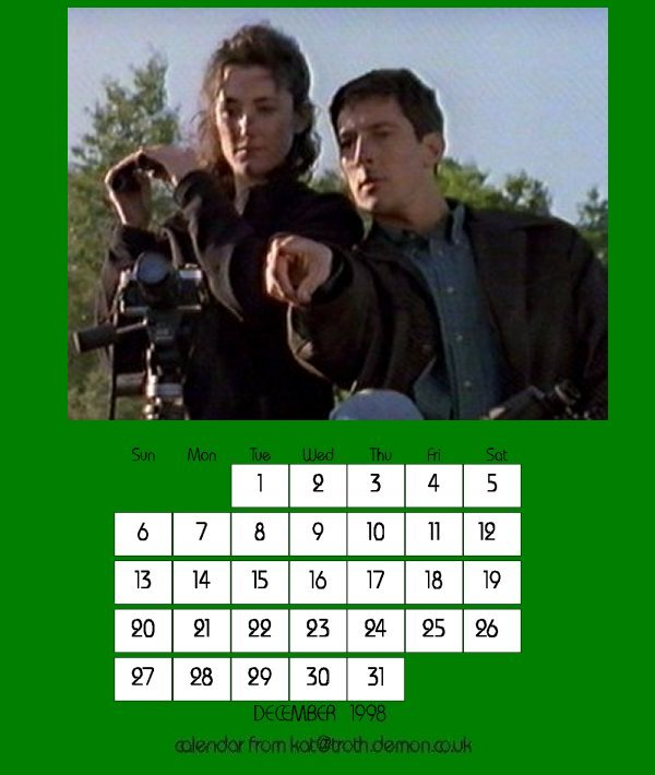 December 98 Calendar:  Returning to the wild